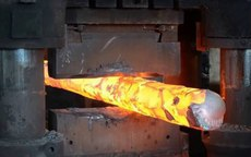 Forging a steel bar